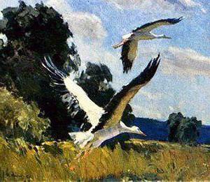 Сочинение-описание по картине Аисты Тихого (9 класс)