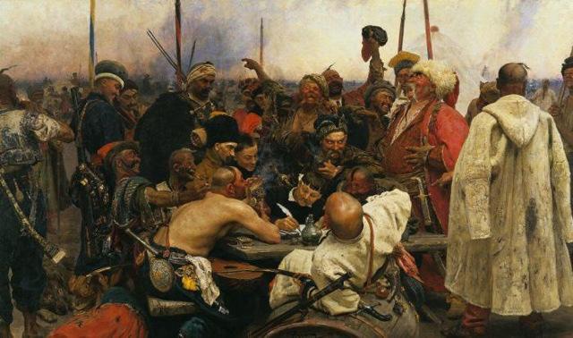 Сочинение-описание по картине Запорожцы, пишущие письмо турецкому султану Репина