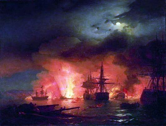 Сочинение по картине Чесменский бой Айвазовского