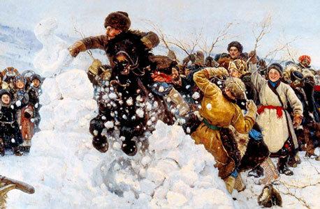 Сочинение-описание Взятие снежного городка по картине Сурикова (3, 6, 8 класс)