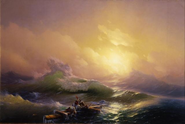 Сочинение по картине Бриг Меркурий, атакованный двумя турецкими судами Айвазовского