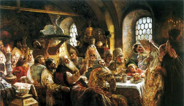 Сочинение по картине Боярский свадебный пир xvii века К. Маковского