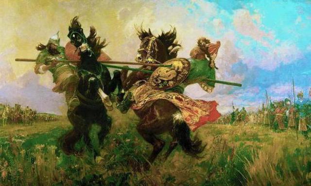 Описание картины Авилова Поединок Пересвета с Челубеем (сочинение)