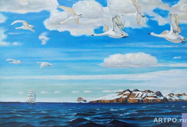 Сочинение-описание по картине В голубом просторе Рылова (3 класс)
