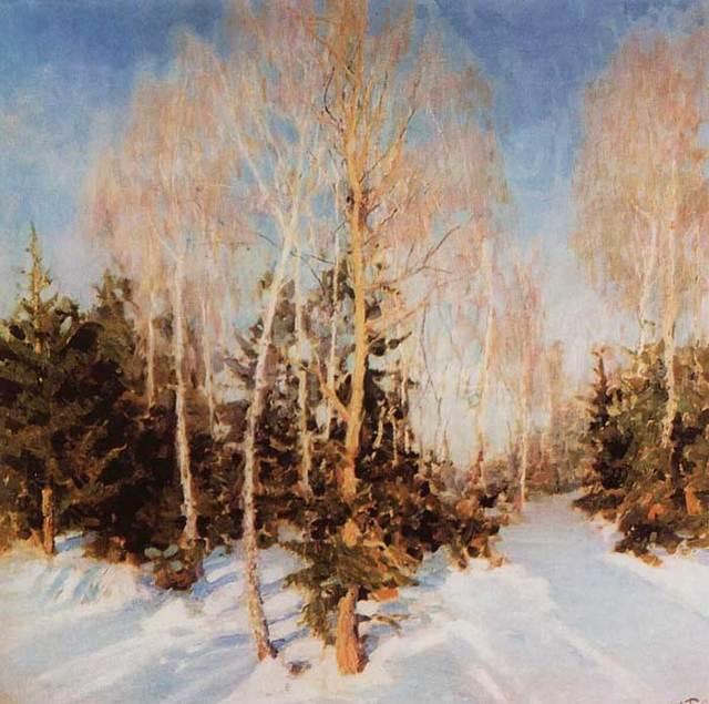 Зимний пейзаж - сочинение