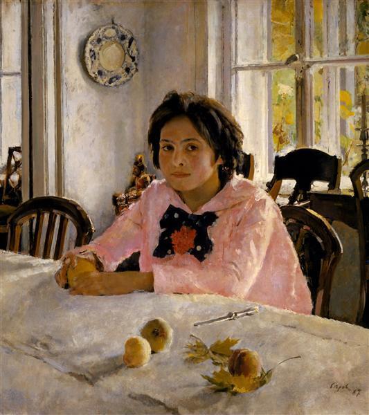 Сочинение по картине Девочка с персиками В. А. Серова (3, 6, 7 класс)