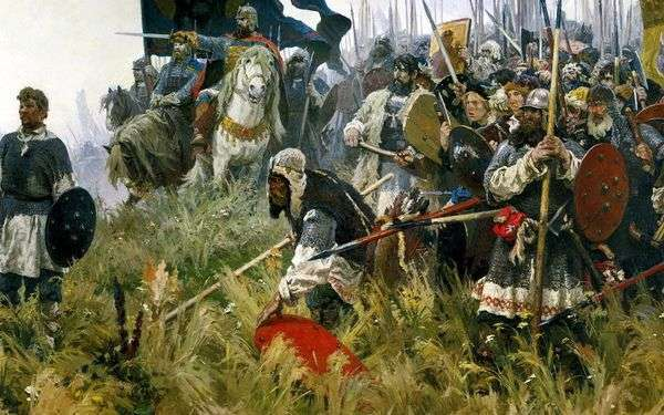 Сочинение-описание по картине Бубнова Утро на Куликовом поле