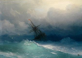Сочинение по картине Айвазовского Корабль у берега