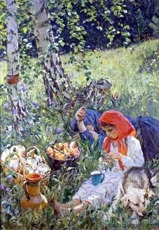 Сочинение-описание картины Летом Пластова (5 класс)