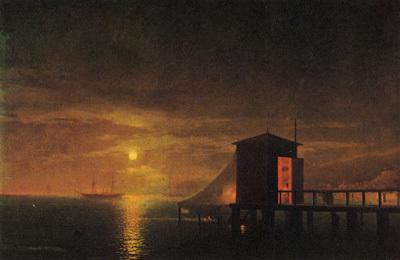 Сочинение по картине Лунная ночь. Купальня в Феодосии Айвазовского (описание)