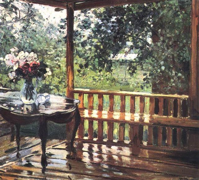 Сочинение по картине После дождя (мокрая терраса) Герасимова (6 класс описание)