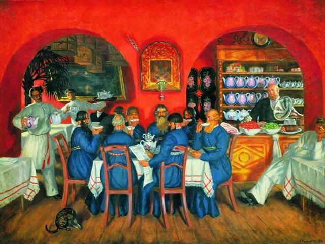 Сочинение-описание картины На террасе Кустодиева (7 класс)