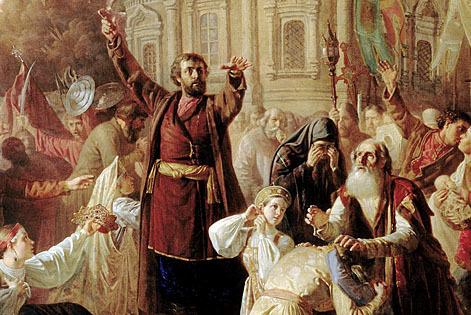 Сочинение по картине Маковского Воззвание Минина к нижегородцам