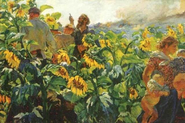 Сочинение по картине Оборона Севастополя Дейнеки (4, 6 класс)