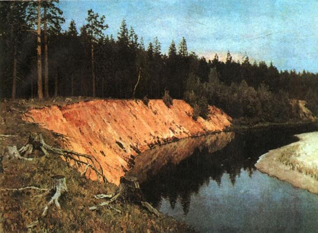 Сочинение по картине Лесистый берег Левитана 6 класс
