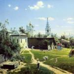Сочинение-описание по картине Бабушкин сад Поленова (8 класс)
