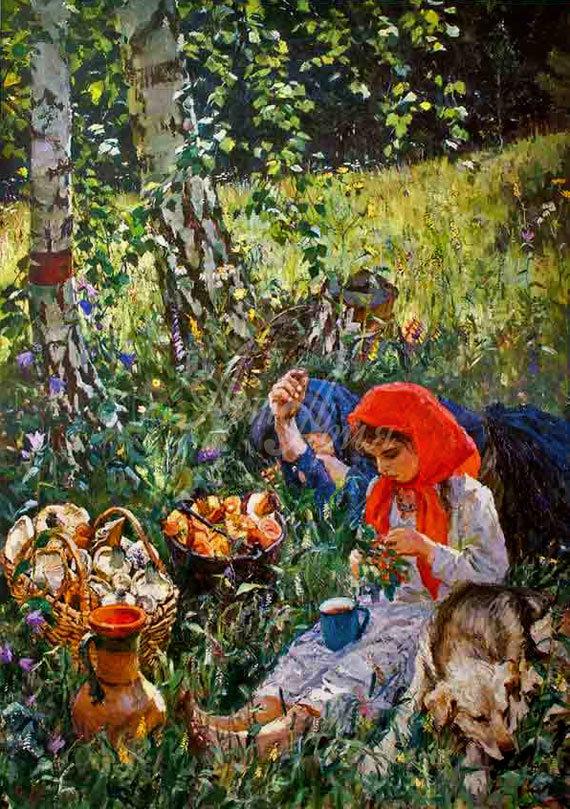 Сочинение по картине Тройка. Ребятишки у реки Пластова (описание)