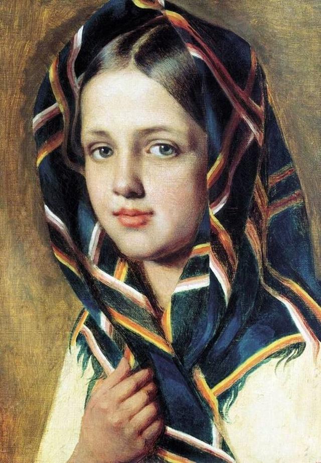 Сочинение по картине Девушка в платке Венецианова