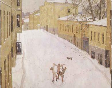 Первый снег Попова - сочинение-описание по картине 7 класс