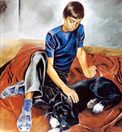 Сочинение по картине Друзья от имени мальчика (Широков 7 класс)