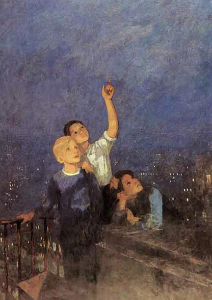 Сочинение-описание по картине Мальчишки Решетникова (5 класс)