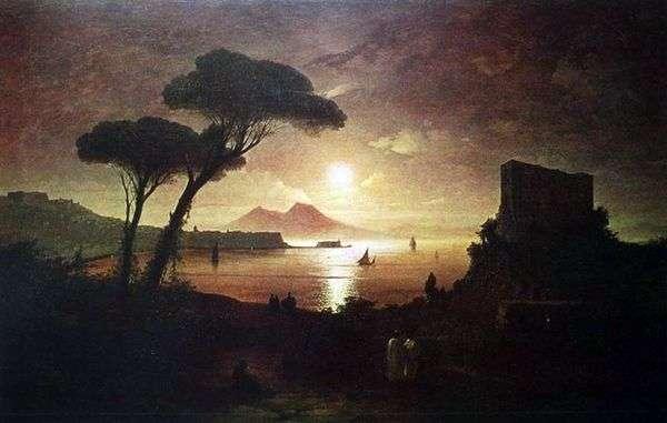 Сочинение по картине Неаполитанский залив в лунном свете Айвазовского (описание)