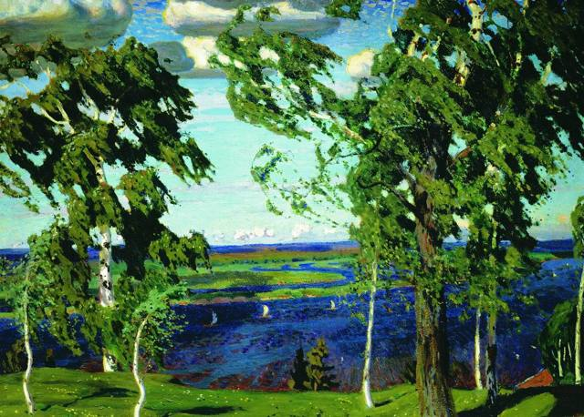 Сочинение по картине Зеленый шум Рылова (описание)
