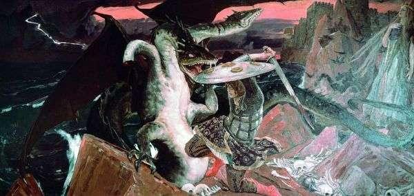 Сочинение по картине Битва Ивана-царевича с трехглавым Змеем Васнецова